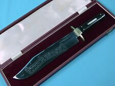 British 1971 Wostenholm Sheffield I-XL Commemorative Large Bowie Fighting Knife