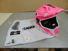 509 DELTA R3 XXL SNOW HELMET WITH FLIP DOWN TINTED SHIELD  MATTE PINK DOT ECE AS