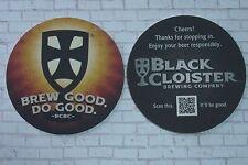 Collectible Beer Coaster ~*~ BLACK CLOISTER Brewing Co ~ Toledo, OHIO >< Do Good