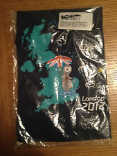 OFFICIAL LONDON 2012 WENLOCK Adidas BLUE T-SHIRTS 3-4 YRS 100% COTTON