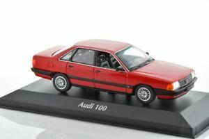 AUDI 100 C3 2.3 E Red 1990 1/43 MINICHAMPS 940015200