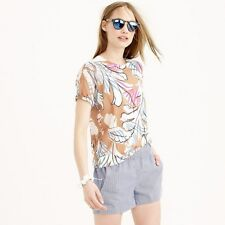 NWT New J. CREW Large Short Tinted Seersucker Pull On Shorts $58