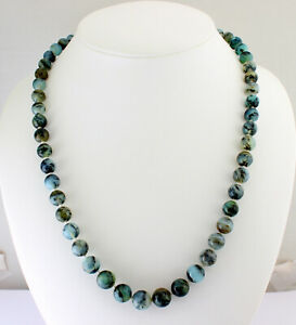 Natural Chrysopal Necklace Precious Stone Knotted Ball Gift Approx. 78 CM