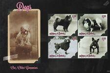 Dog Stamp Sheet (Chow Chow/Japanese Chin/Poodle/French Bulldog) 2013 Antigua