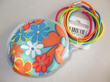 HAIR ACCESSORIES - 6 PACK ELASTIC HAIR BANDS WITH PURSE - NEW