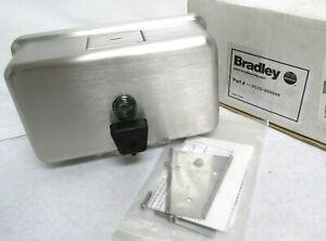 Bradley 6543 Surface Mount Horizonal Push Button Liquid Soap Dispenser, Satin