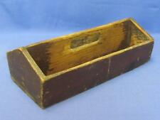 Vintage Wood Box Tote Divided Carrier Handle Rustic Country Shabby Primitive