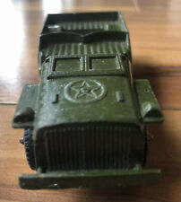 Vintage Tootsietoy Jeep Army Military Vehicle Nice Condition