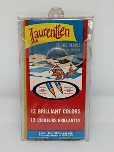 12 Venus Canada Laurentien Colored Pencil Crayons NEW in PVC Case Unsharpened