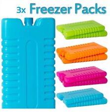 Pack 3x Bolsa Nevera Congelador Hielo Bloques Viaje Caja Almuerzo Picnic Campamento Reutilizable