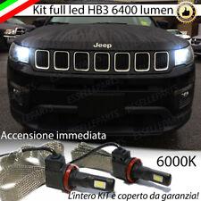 KIT FULL LED HB3 ABBAGLIANTI JEEP COMPASS MK2 6000K CANBUS 6400 LUMEN NO AVARIA