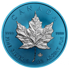 Canada 2019 - Maple Leaf Ag9999 Silver 1oz Space Blue Edition 060 of 500