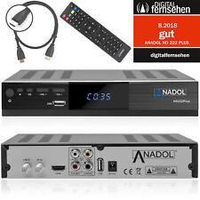 Digitaler Sat Receiver HD Anadol ADX 222 Plus HDTV DVB-S2 HDMI SCART