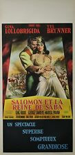 """SALOMON ET LA REINE DE SABA (SALOMON AND SHEBA)"" Affiche originale entoilée"