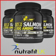 OLIMP GOLD SALMON 12000 AMINO 300 MEGA TABS protein amino acids BCAA