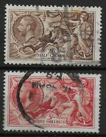 SG450/451.  1934 Re-Engraved 2s6d.& 5s.Seahorses.  Good/Fine Used.  Ref:0340