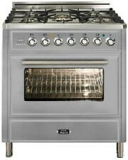"Ilve Umt76Dmpi 30"" Dual Fuel Range Oven 5 burner Stainless Steel Price Reduced"