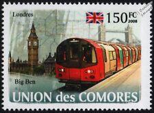 LONDON UNDERGROUND Northern Line Train Stamp (Tube Map/Big Ben/London Bridge)