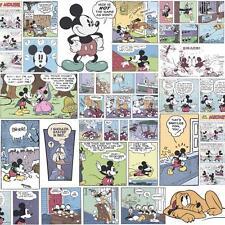 DISNEY MICKEY MINNIE PAPERINO Fumetto Carta da parati per bambini Multicolore