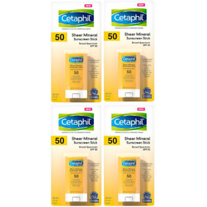 Cetaphil Sheer Mineral Sunscreen Stick SPF 50 0.5 oz Each Exp 10/22 x4 Pack Lot