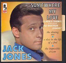 JACK JONES 45T EP KAPP 13033 Somewhere my love Dr JIVAGO Maurice JARRE NEUF MINT