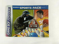 Notice Game Boy Advance VF  Majesco's Sports Pack  AGB-B3NP-EUR