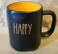 Rae Dunn Happy Halloween Mug New!  2019 Double Sided Black VHTF Orange