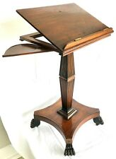 Antique c.19th Mahogany Music Book Stand