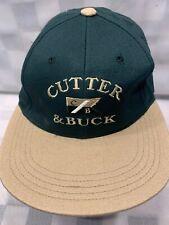 CUTTER & BUCK Green Adjustable Adult Baseball Ball Cap Hat NEW NWT