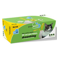 VAN NESS - Pureness Large Drawstring Cat Pan Liners - 20 Pack