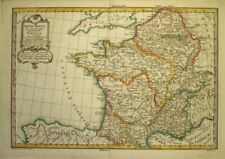 1773  Large  Beautiful Pretot Map of France