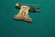 Antique gold metal Gold Barrette Hair Clip ponytail patent September 15, 1914