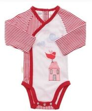 Size 000 - Sooki Baby Red and White Stripe Romper Long Sleeves, one piece