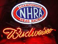 "New Budweiser Bud Light NHRA Racing Car Neon Sign 20""X16"" Fast Ship"