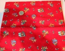 Cranston Impresión De Pantalla Rojo Navidad Osos De Peluche 100 cm X 115 cm Nuevo y primer
