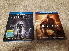 Complete Riddick Bluray Set, Pitch Black, Chronicles, Dark Fury. Slipcovers!