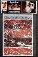 Uschi van der Rosten 1018 Decals Marble Red & Beige Marmor