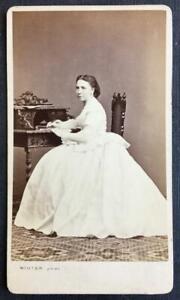 Sophie Dittrich (Dietrich), Czech Pianist, SIGNED cdv photograph, Prague, 1866