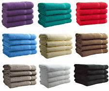 4 x Large Bath Sheet Super Soft Pure Cotton Towel Bale Set