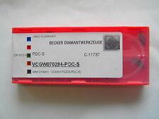 Wendeplatte VCGW 070204 PDC-S von Becker Diamant