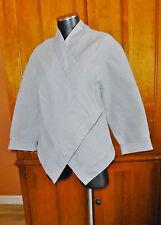 LESLIE HERBERT New Zealand Asian Chic Boho Micro Stripe KIMONO Jacket Coat sz 8