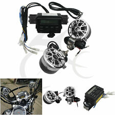 New Motorcycle Bike Sound System Handlebar 2 Speakers FM Radio Audio MP3 Stereo