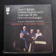 Oistrakh, Rostropovich, Richter, Karajan - Beethoven Concerto LP VG+ Chile 1st
