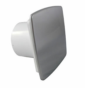 "Bathroom Extractor Fan 100mm/4"" Timer & Humidity Sensor NI 100H Polished Chrome"