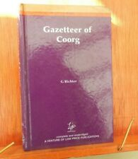 1998 GAZETTEER OF COORG (1870) BY REVEREND G. RICHTER HISTORY