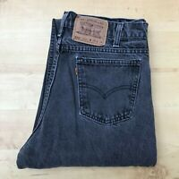 Men's Levi's 550 Relaxed Fit Tapered Leg Black Jeans W33 L34 (#A997)