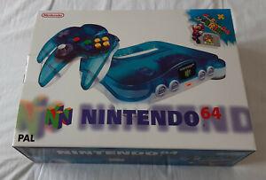 Nintendo 64 (N64) (blue/white) boxed + Super Mario 64 - excellent condition