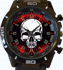 Reloj de Pulsera Hermoso Cráneo Gótico Rojo Nueva Serie GT Deportes rápido de Reino Unido Vendedor
