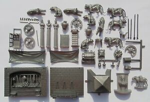 RARE LOT BEN HUR ACCESSORIES AND ANIMALS PLAY SET NO MARX REISSUE MEXICO