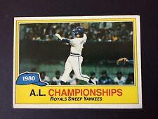 1981 Topps KANSAS CITY ROYALS 1980 A.L. Championship #401  GEORGE BRETT